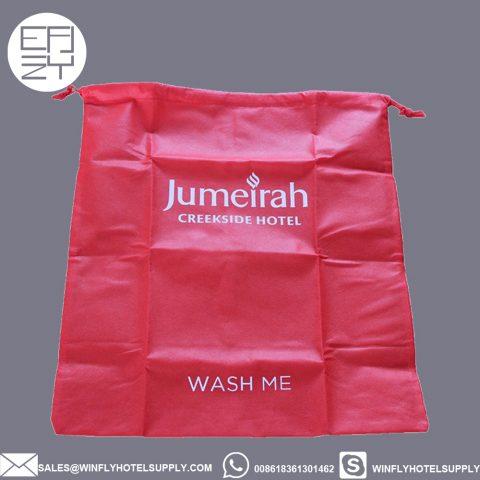 Custom color Jumeirah non-woven laundry bag