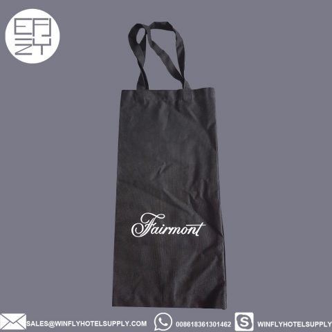 Faimont cotton hand bag hotel newspaper bag