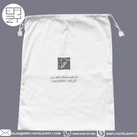 Wholesale Custom logo fairmont hotel cotton laundry bag